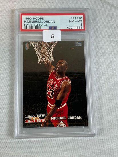 1993 Hoops Face to Face Michael jordan PSA 8