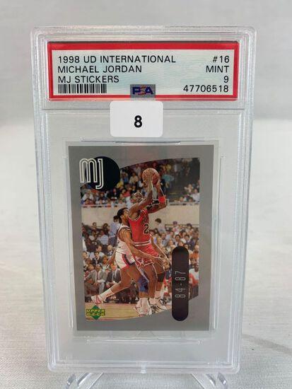 1998 Upper Deck International MJ Sticker PSA 9