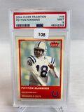 2004 Fleer Tradition Peyton Manning PSA 9