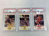 1990 PSA Graded Fleer Hardaway, Kemp, Pippen