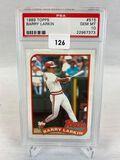 1989 Topps Barry Larkin PSA 10