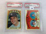 (2) 1972 Topps- Ron Perranoski & Royals Rookies Clemons, Montgomery