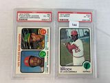 1973 Topps Lou Brock & Stolen Base Leaders PSA graded cards