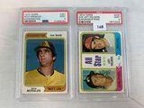 1974 Topps Rich Morales & A/S Left Fielders Murcer, Rose