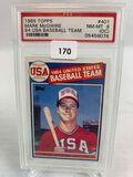 1985 tops Mark Maguire 84 USA baseball team PSA 8