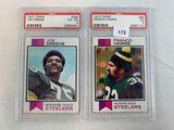 1973 Topps Joe Greene PSA 4 & Franco Harris PSA 5