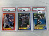 1990 Score Puckett, Sanders, & Sosa PSA 9's