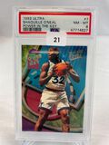 1993 ultra Shaquille O'Neal Power in the Key PSA 8