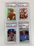 4 Graded cards 1989, 1990, 1991- Schilling, Rodriguez, Martinez, Johnson