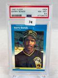 1987 Fleer Barry Bonds Psa 8.5