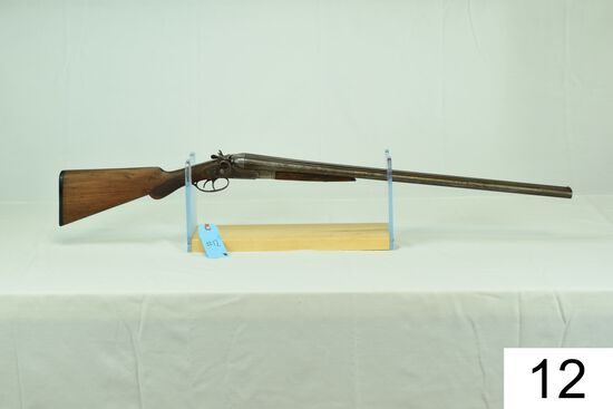 "American Gun Co.    ""Crescent""    SxS    12 GA    Hammers    SN: 171428    Condition: 15-20%"