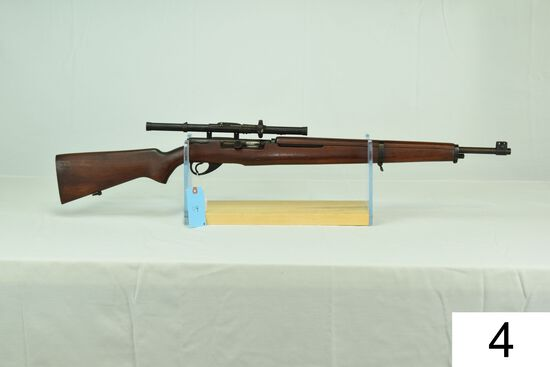 Springfield    Mod 87M    Cal .22 LR     W/Wards Rangefinder Scope    Condition: 40%