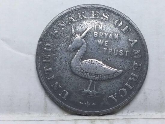 UNITED SNAKES OF AMERICA FREE SILVER OME DAY MEDAL