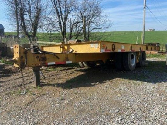Rogers...Corp 40,000 GVW tilt deck equipment trailer, pintle hitch...