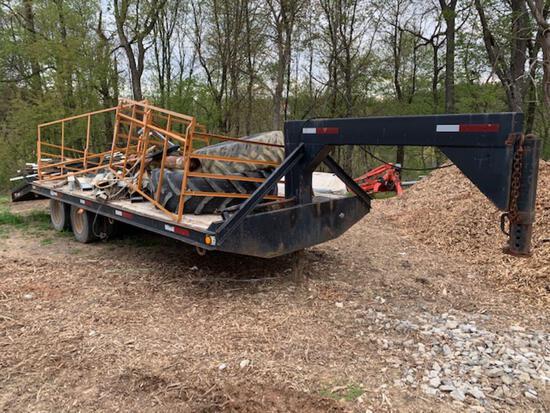 24? flatbed gooseneck trailer, tandem duals, (24k GVW)