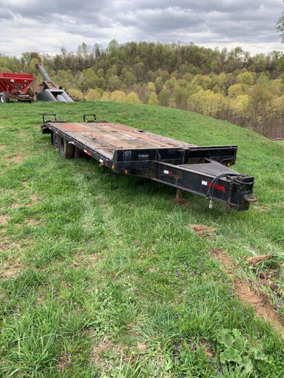 24? Equipment trailer, Pintle hitch. Tandem duals. NO TITLE !!!