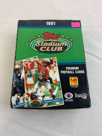 1991 Stadium Club football box, unopened