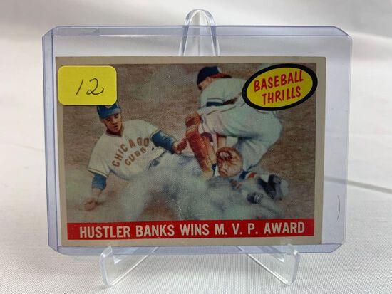 1959 Topps Ernie Banks Baseball Thrills