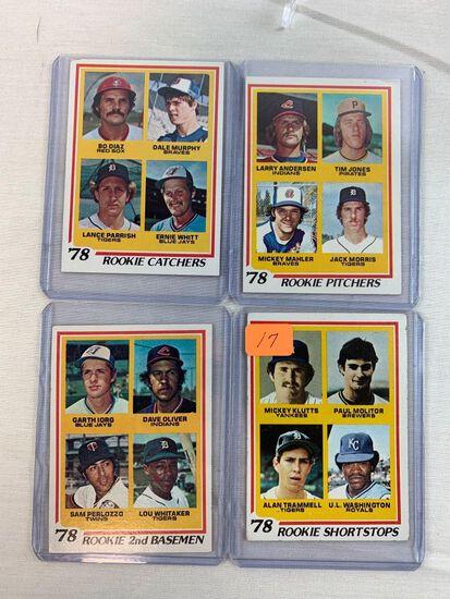 1978 Topps Rookie card lot w/ Trammell, Molitor, Murphy