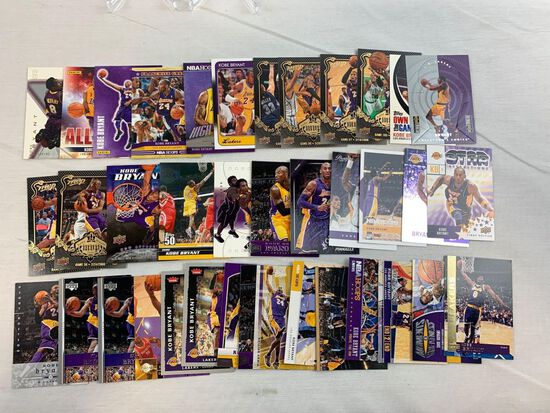37 Kobe Bryant cards, inserts, samples, many others