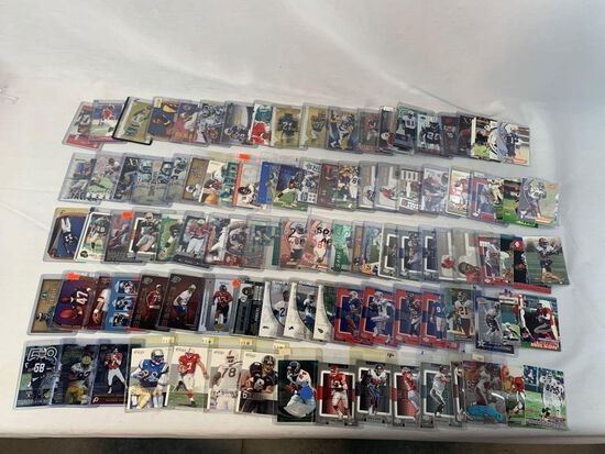 Lot of 105 Serial #'D football cards including Moss, Young, James, Davis, Harrison, Etc.