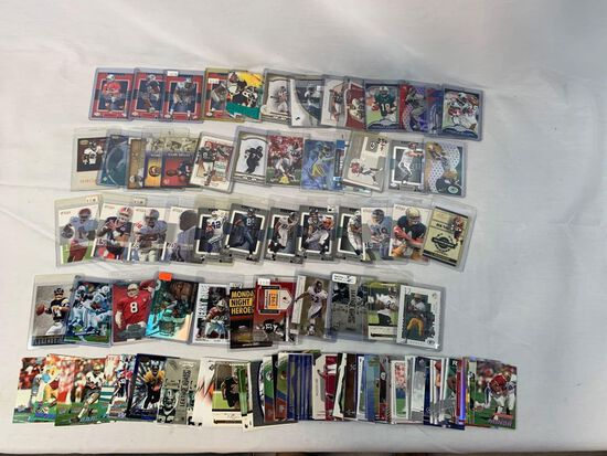 Lot of 104 Serial #'D Football cards including Rice, Young, Ray Lewis, James, Fouts, Etc.