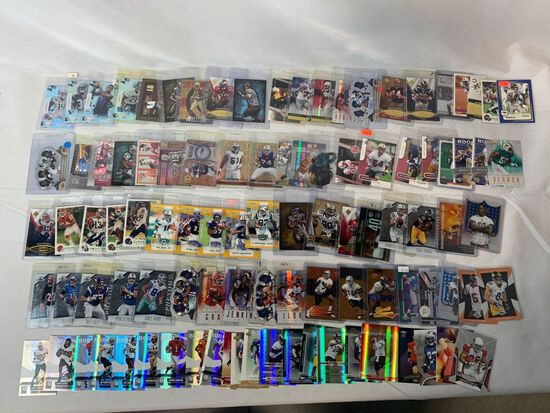 Lot of 100 Serial #'D Football cards, lots of stars
