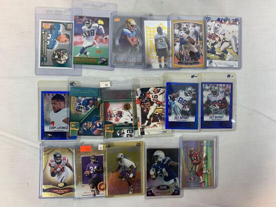 Lot of 17 Serial #'D Football cards. All cards #'d between 50 and 100