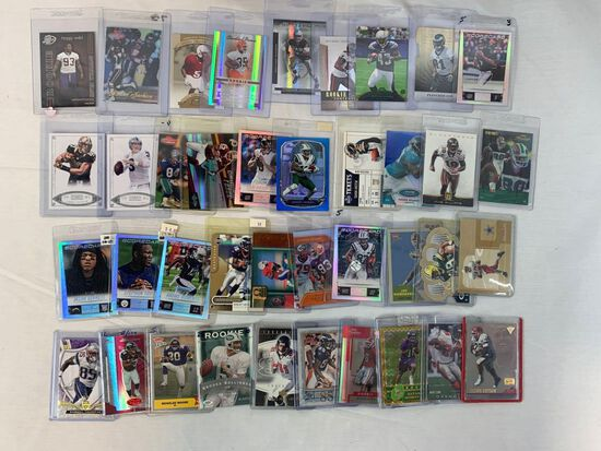 Lot of 39 Serial #'D Football cards, all numbered out of 100