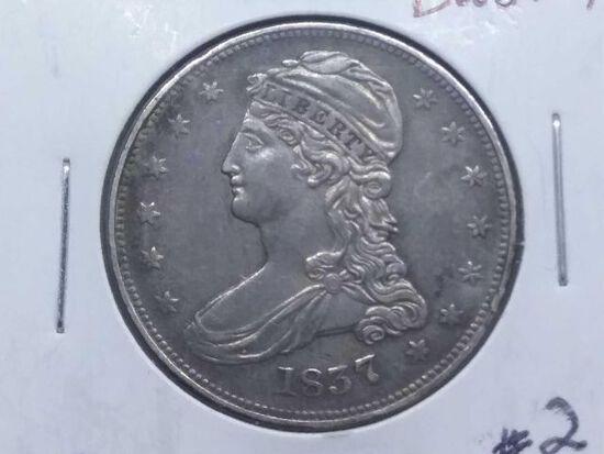 1837 BUST HALF (NICE) AU