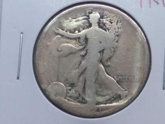 1921 WALKING LIBERTY HALF (SEMI KEY) AG
