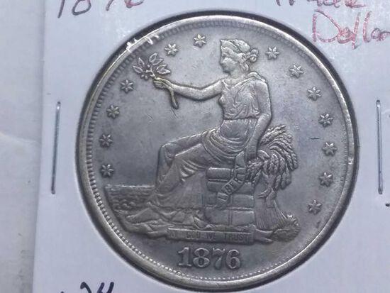 1876 TRADE DOLLAR XF