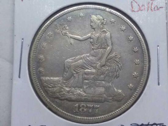 1877 TRADE DOLLAR XF