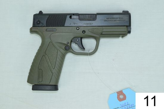 Bersa    Mod BP9CC    Cal 9mm    SN: F49987    2 Mags    Condition: Like NIB