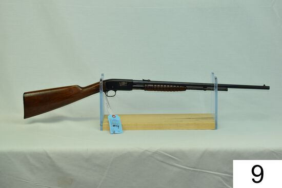 """Remington    Mod 12 A    Cal .22 LR    SN: 699506    """"Gun was refinished""""    Condition: 75% Refinish"""