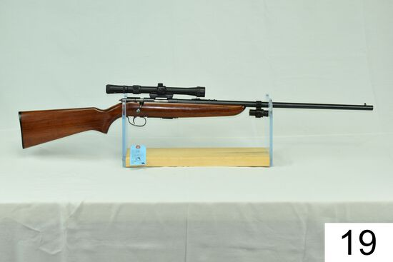 "Remington    Mod 511 Scoremaster    Cal .22 LR    W/Tasco 3-9 Scope and Laser    ""Gun was refinished"