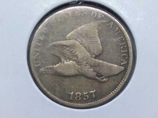 1857 FLYING EAGLE CENT VG