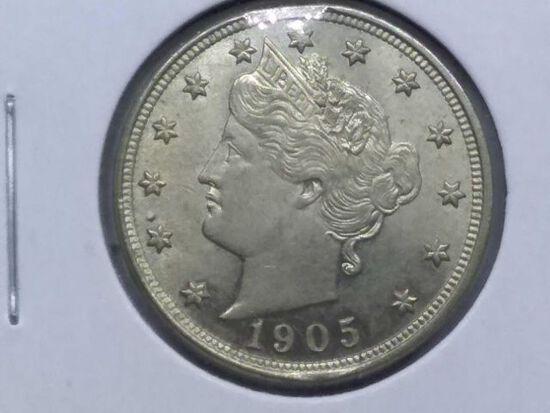 1905 V-NICKEL (SHARP) BU