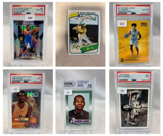Sports Auction #18 - PSA Graded Cards -