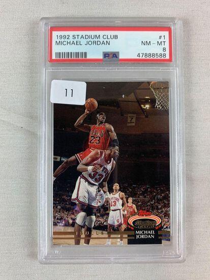 1992 Stadium Club Michael Jordan PSA 8