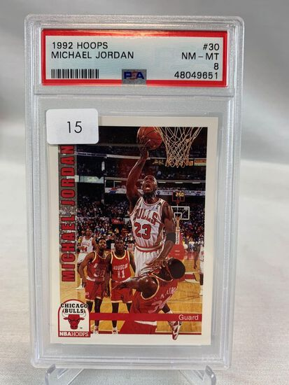 1992 Hoops Michael Jordan PSA 8