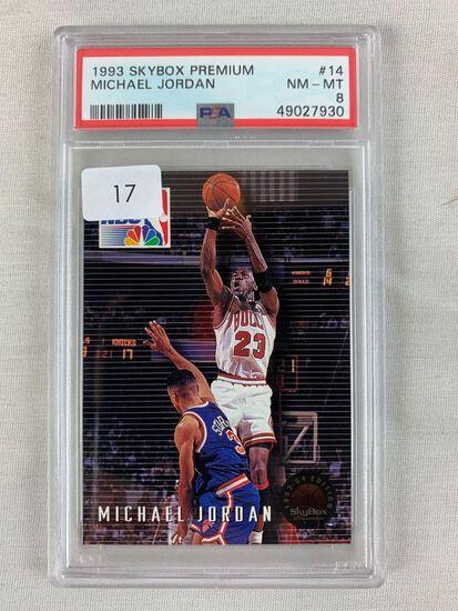 1993 Skybox Premium Michael Jordan PSA 8