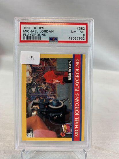 1990 Hoops Michael Jordan Playground PSA 8