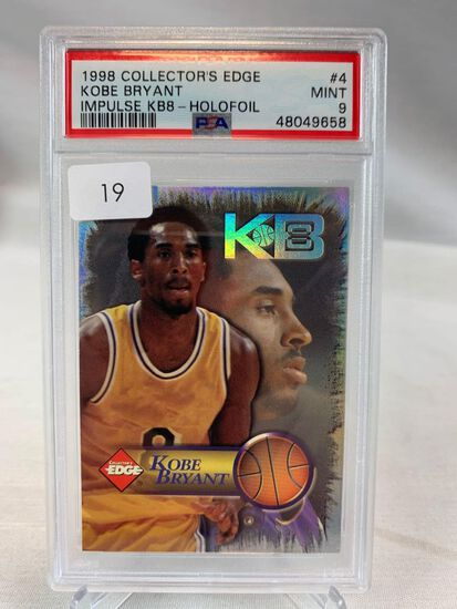 1998 Collectors Edge Kobe Bryant - Impulse KB8- Holofoil PSA 9