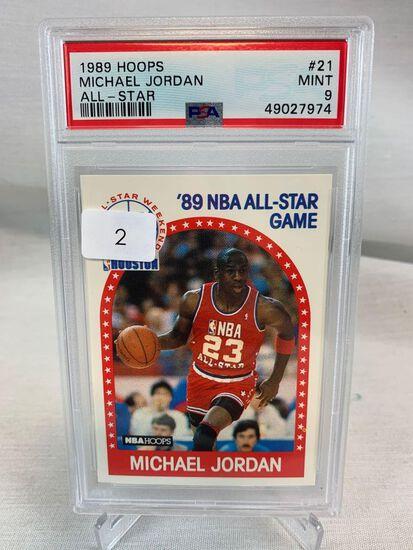 1989 Hoops All Star Michael Jordan PSA 9