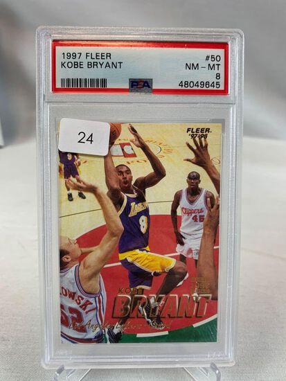1997 Fleer Kobe Bryant PSA 8