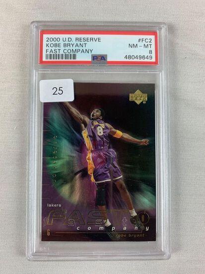 2000 Upper Deck Reserve Kobe Bryant Fast Company PSA 8
