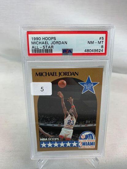 1990 Hoops All Star Michael Jordan PSA 9
