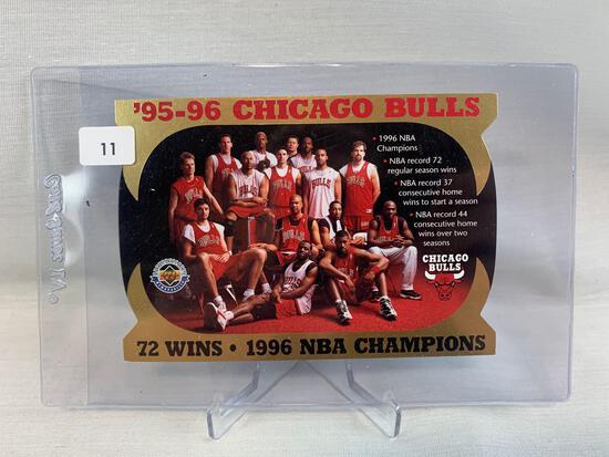 Michael Jordan and Chicago Bulls Upper Deck limited edition card