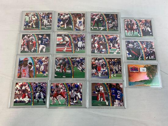 1992 Upper Deck Pro bowl lot of 15 rainbow cards